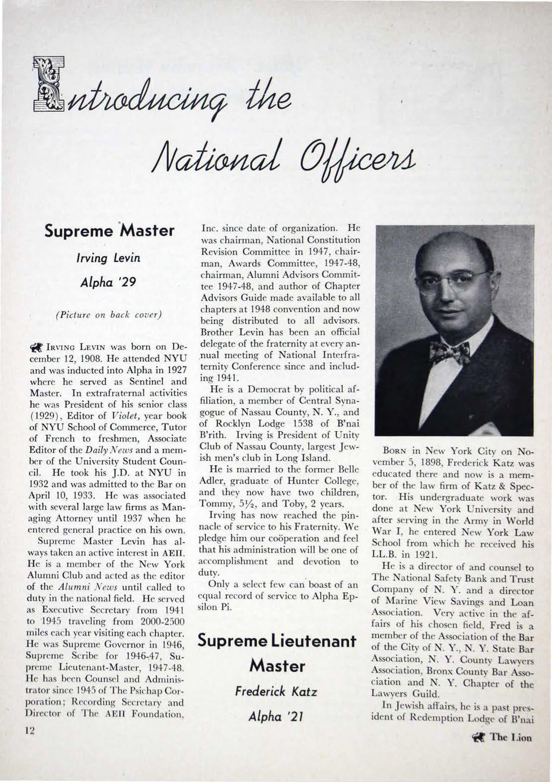 1948 Supreme Master
