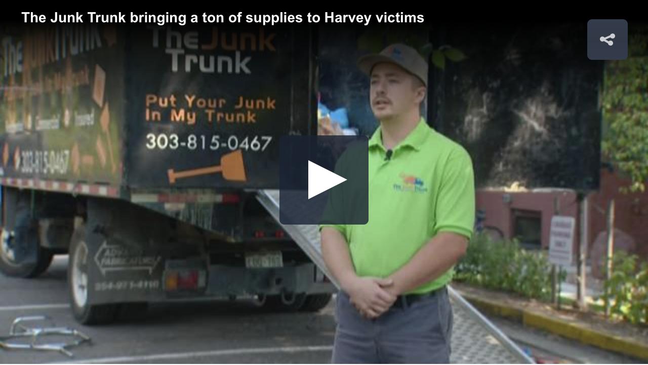 Junk Truck Brings Supplies