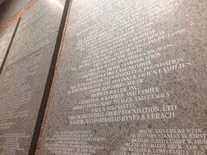 """Alpha Epsilon Pi Fraternity and Foundation"" engraving at the United States Holocaust Museum (USHMM)"