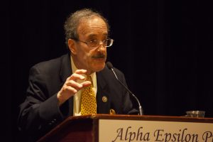 Congressman Eliot Engel addresses brothers during today's lunch.