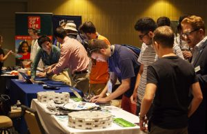 Undergraduate and alumni brothers meet with AEPi partners and Jewish organizations at Partner Fair.