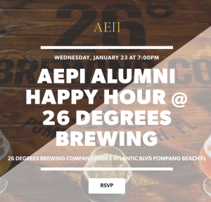 26 Degrees AEPi Happy Hour