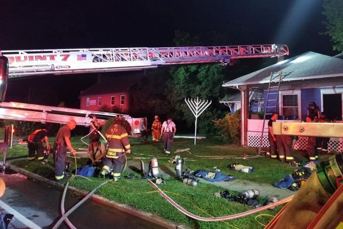 The aftermath of the UD Chabad House fire